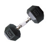 25 pound CAP PVC-Coated Hex Dumbbell with Contoured Chrome Hand Grip