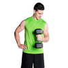 Model holding CAP PVC-Coated Hex Dumbbell with Contoured Chrome Hand Grip