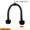 CAP Barbell 2pc Solid D-Shaped Attachment & Double D-Shaped Attachment & Triceps Press Down Rope Attachment Set