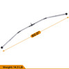 CAP Barbell 60'' Lat Bar & 2pc Solid D-Shaped Attachment & Triceps Press Down Rope Attachment Set