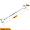 CAP Barbell 60'' Lat Bar & 24'' Pro-Style Lat Bar with revolving hanger & Triceps Press Down Rope & 2pc Solid D-Shaped Attachment Set