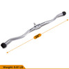 CAP Barbell 34'' Pro-Style Lat Bar with Revolving Hanger & 28'' Curl Bar & Triceps Press Down Rope & 2pc Solid D-Shaped Attachment Set