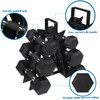 CAP Barbell 54(5, 10, 12 Pair) LB PVC-Coated Hex Dumbbell Set with 3-tier Rack Stand