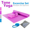 Tone Fitness Yoga Set –Yoga Mat, Yoga Block, Yoga Towel, Yoga Strap, Carry Bag, Resistance Training Band