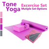 Tone Fitness Yoga Set – Yoga Mat, Yoga Block, Yoga Towel, Yoga Strap, Carry Bag