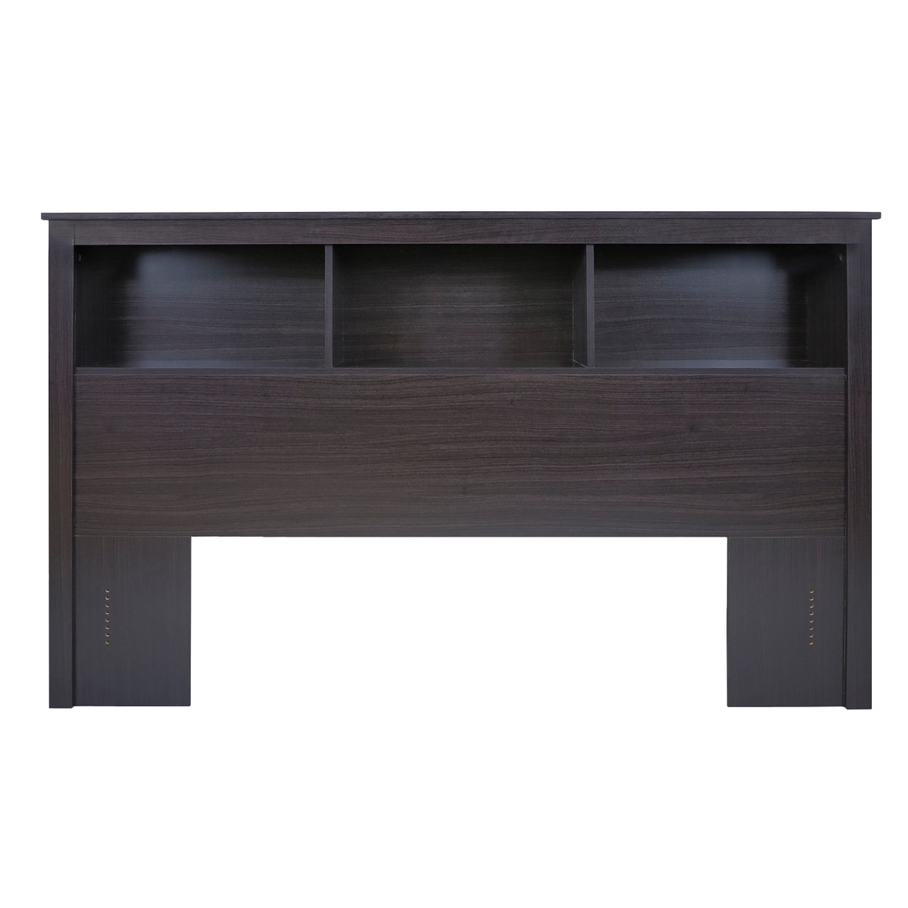 Cap Living Wood Bookcase Headboard With Storage Bedroom Bookcase Headboard Queen Size Espresso