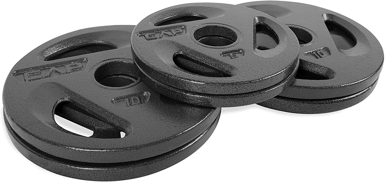 """10 Lb Olympic Weight Plates Set of 2 with 2/"""" Center Hole"""
