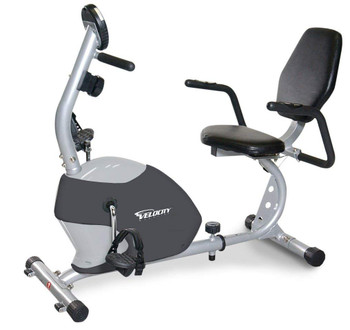 Velocity Exercise Magnetic Recumbent Bike, Colors Available in White and Gray