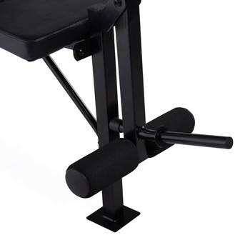 CAP Black Standard Bench, leg extension close up