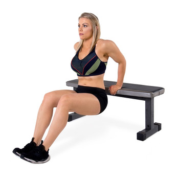 CAP Strength Flat Bench with model