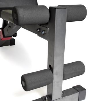 CAP Strength Utility FID Bench, close-up of leg developer