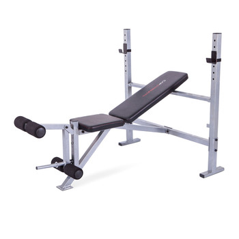 CAP Adjustable Weight Bench with Squat Rack for Full Body Workout, Weight Bench Barbell Lifting