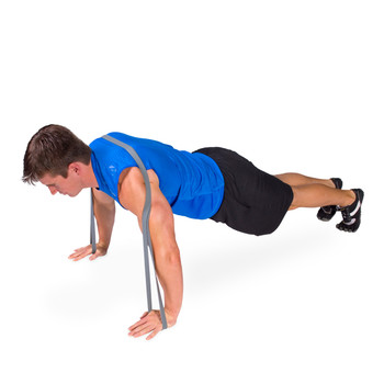 Model using the 1 lb resistance band
