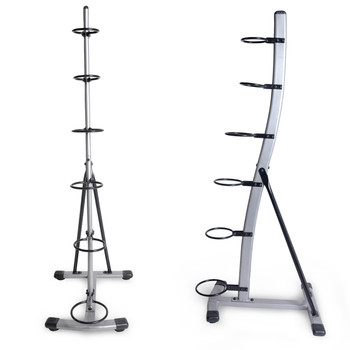 CAP 6-Tier Medicine Ball Rack, side and front view