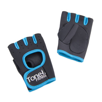Tone Fitness Teal Weightlifting Gloves, pair