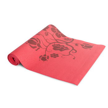 Red floral Tone Fitness Yoga Mat
