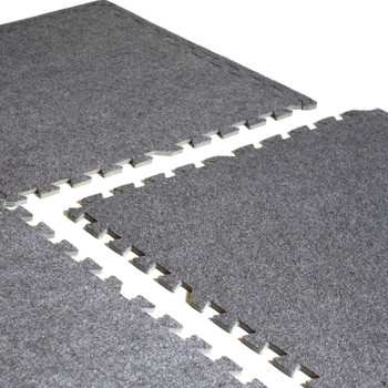 CAP 6-Piece Foam Tile Flooring with Carpet Top
