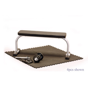 bench sitting on CAP 4-Piece High Density Puzzle Mat