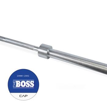 "Handle of CAP ""The Boss"" Olympic Power Lifting Bar, Silver Zinc"