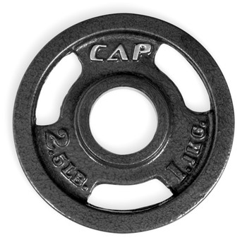 2.5 lb CAP Olympic Cast Iron Grip Plate, Black