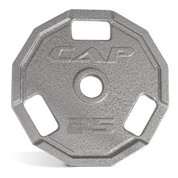 25 lb CAP 12-Sided Olympic Cast Iron Grip Plate