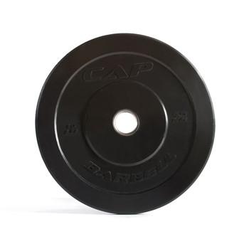 10 lb CAP Olympic Rubber Bumper Plate, Black