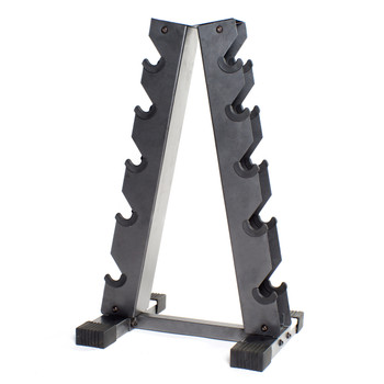 Gray CAP A-style Dumbbell Rack, front view