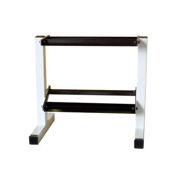 CAP 2-Tier Dumbbell Rack, Black/White, 20 in