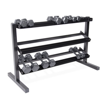 CAP 3-Tier Dumbbell Rack featuring dumbbells (not included)
