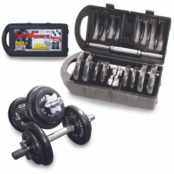40 lb CAP Adjustable Dumbbell Set with Case