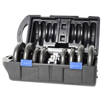 40 lb CAP Adjustable Cast Iron Dumbbell Set with Case