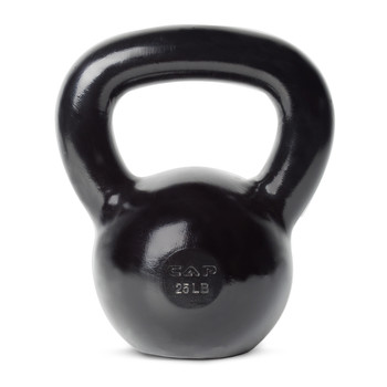 25 lb CAP Enamel Coated Cast Iron Kettlebell