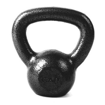 CAP Hammertone Cast Iron Kettlebell, Black, 10 lb