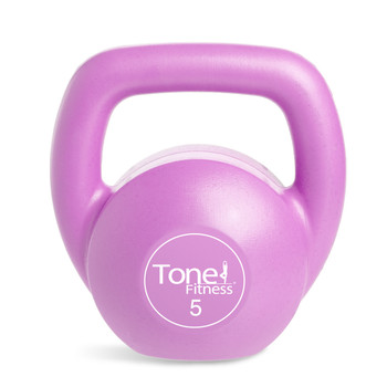 5 lb Tone Fitness PVC Coated Cement Kettlebell in the 30 lb set