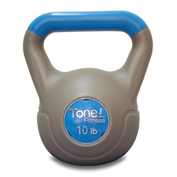 10 lb Tone Fitness PVC Coated Cement Kettlebell