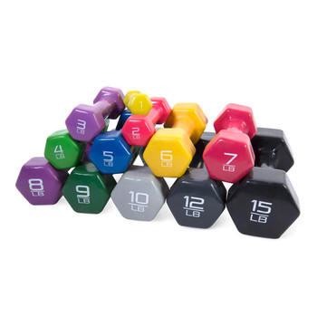Multiple CAP Vinyl Coated Hex Dumbbells