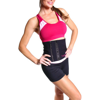 Model using Tone Fitness Waist Slimmer Belt with Zipper (HHB-TN001ZBK)