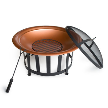 Outdoor Escapes Steel Fire Pit, 30-Inch