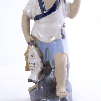 Fisherman Figurines Chinese Mud men (Set of 4)