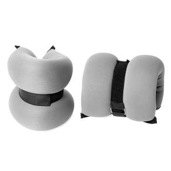 CAP 5 lb Pair Ankle/Wrist weights-GRAY (HHA-005GY)