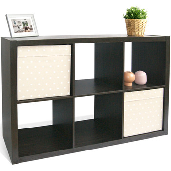 CAP LIVING Cube Room Organizer, Storage Divider, Extra Thick Exterior, Bookcase, Colors Available in Espresso and White