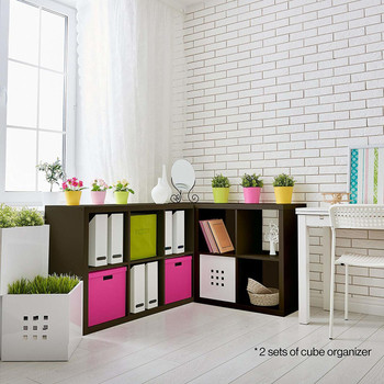 CAPHAUS Cube Room Organizer, Storage Divider, Extra Thick Exterior, Bookcase, Colors Available in Espresso and White