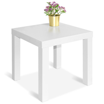 CAP LIVING Square Side End Table, Night Stand, Colors Available in Espresso and White