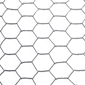 16 Gauge Black Vinyl Coated Hex / Poultry Netting Mesh 1.5""