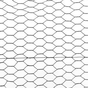 20 Gauge Black Vinyl Coated Poultry Hex Netting with 1 inch Mesh