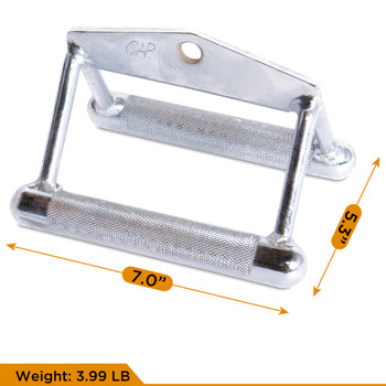 CAP Barbell Double D-shaped Attachment & 20'' Straight Bar with Revolving Hanger Attachment Set