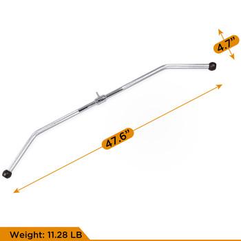 CAP Barbell 48'' Lat Bar & 2pc D-Shaped Attachment Set