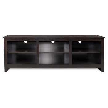 "CAP Living Wood 70"" TV Stand Console Table with Open Storage Shelves for TV up to 60"", Cappuccino"