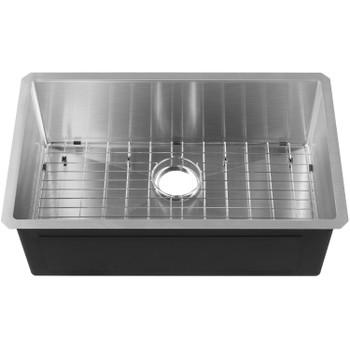 """CAPHAUS  Undermount Single Bowl 16 Gauge Stainless Steel Kitchen Sink, 30"""""""