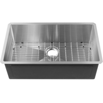 """CAPHAUS Undermount Single Bowl 16 Gauge Stainless Steel Kitchen Sink, 32"""""""